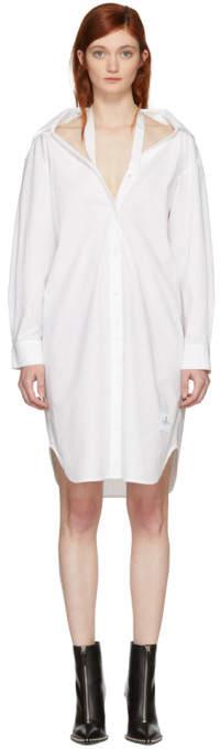 Alexander Wang White Tape Shirt Dress