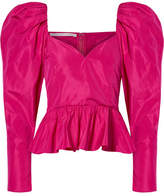 Stella McCartney Taffeta Peplum Top - Magenta