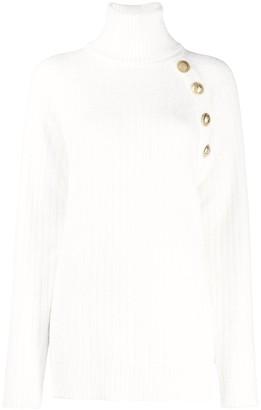 Balmain Button-Shoulder Jumper