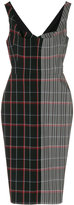 Victoria Beckham draped plaid curve dress