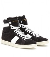 Saint Laurent WOLLY SUEDE HIGH-TOP SNEAKERS