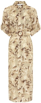 Zimmermann Super Eight Safari linen midi dress