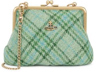 Vivienne Westwood Elena checked tweed shoulder bag