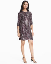 White House Black Market Petra 3/4-Sleeve Sequin Shift Dress