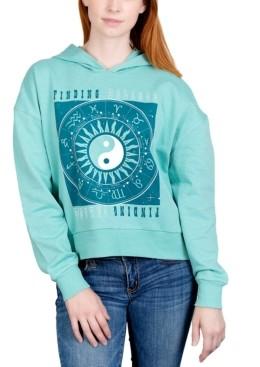 Rebellious One Juniors' Find Balance Graphic Hoodie Sweatshirt