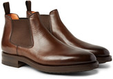 Santoni Burnished-Leather Chelsea Boots