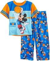 "Disney Disney's Mickey Mouse Toddler Boy ""Slam Dunk"" Basketball Top & Bottoms Pajama Set"