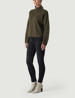 Whistles Sculpted skinny mid-rise jeans