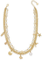 Charter Club Gold-Tone Sea Charm Multi-Strand Necklace, Only at Macy's