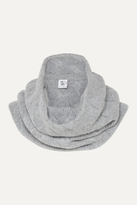 Johnstons of Elgin Cable-knit Cashmere Snood - Light gray