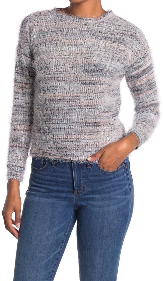 Love by Design Multi Eyelash Knit Scoop Neck Sweater