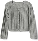 Ribbed crew cardigan