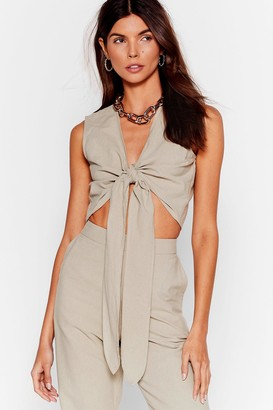 Nasty Gal Womens Perfect Pair Tie Crop Top - Sage
