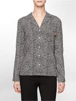 Calvin Klein Wovens Primal Leopard Print Pajama Top