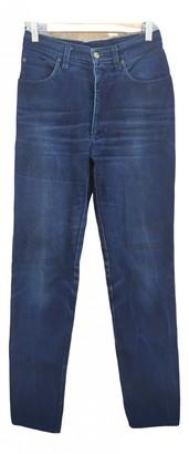Fendi Blue Cotton Jeans for Women Vintage