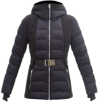 Fusalp Anouk Hooded Belted Quilted Ski Jacket - Navy
