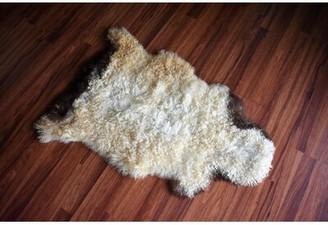"""Heffernan Animal Print Handmade 2'2"""" x 3' Sheepskin Beige/Brown Indoor / Outdoor Area Rug Millwood Pines"""