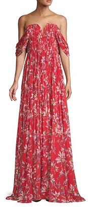 AMUR Floral-Print Maxi Dress