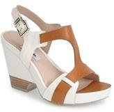 Rosalie Women's Clarks Narrative 'Rosalie Petal' Demi-Wedge Leather Sandal