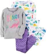 "Carter's Girls 4-12 Dinos are a Girls Best Friend"" Tops & Bottoms Pajama Set"