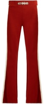 Wales Bonner Angelo embellished flared wool-blend trousers