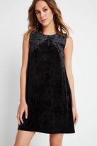 BCBGeneration Velvet Shift Dress - Black