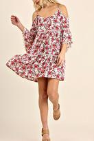 Umgee USA Cold Shoulder Dress