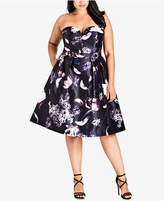City Chic Trendy Plus Size Strapless A-Line Dress