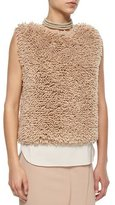 Brunello Cucinelli Sleeveless Chubby Cashmere-Blend Pullover