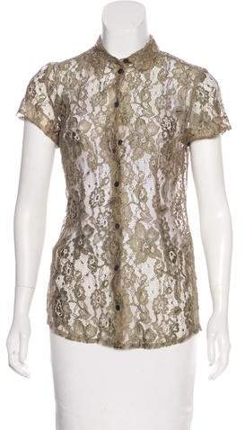 Dolce & Gabbana Button-Up Lace Top