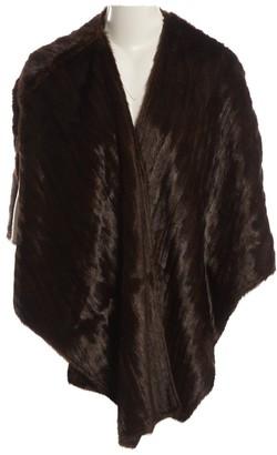 Celine Brown Faux fur Jackets