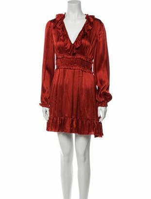 Ulla Johnson Silk Mini Dress Red