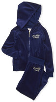 Juicy Couture Toddler Girls) Two-Piece Velour Ruffle Heart Hoodie & Sweatpants Set