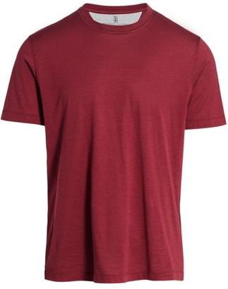 Brunello Cucinelli Silk-Blend T-Shirt
