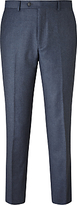John Lewis Flannel Tailored Suit Trousers, Airforce Blue