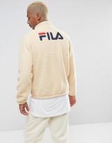 Fila Vintage Fila Black Sherpa Jacket With Retro Back Logo