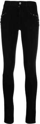 Liu Jo Embellished Mid-Rise Skinny Jeans
