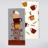 Celebrate Fall Together Pumpkin Spice Kitchen Towel 2-pk.