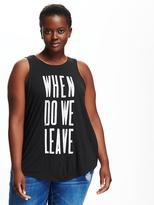 Old Navy Graphic High-Neck Plus-Size Tank