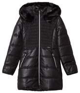Mayoral Black Long Line Hooded Puffer Coat