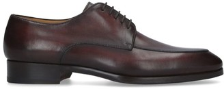 Magnanni Leather Burnished Derby Shoes