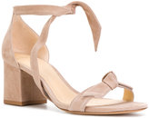 Alexandre Birman tie front block heel sandals - women - Leather - 36
