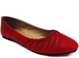 Red Wrap-Toe Liliana Flat