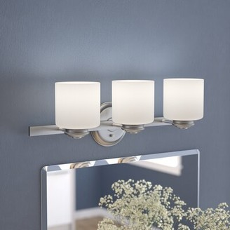 Andover Mills Slocumb 3-Light Vanity Light Finish: Brushed Nickel