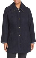 Jessica Simpson Plus Size Women's Basket Weave Fit & Flare Coat