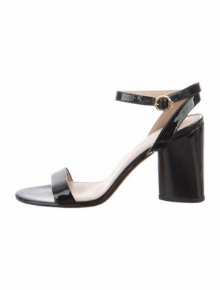Tory Burch Vegetarian Patent Leather Sandals Black