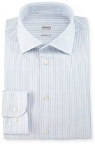 Armani Collezioni Modern-Fit Double-Stripe Dress Shirt, Light Blue