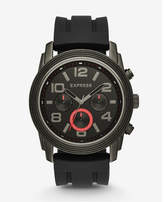 Express black rivington oversized multi-function watch