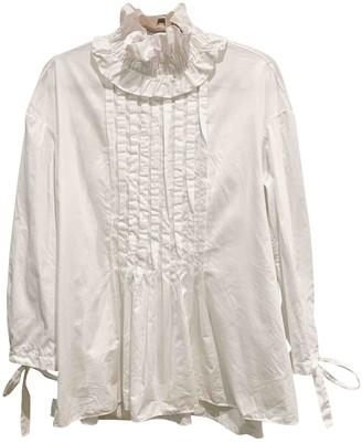 Teija White Cotton Top for Women