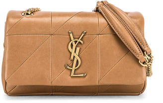 Saint Laurent Small Jamie Chain Patchwork Bag in Taupe Fonce | FWRD